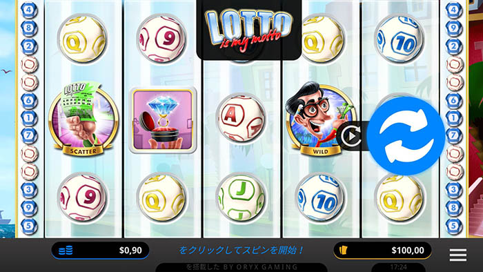 「Lotto is my Motto」の遊戯画面