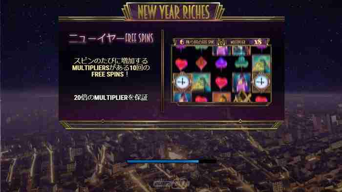 『NEW YEAR RICHES』機種説明画面